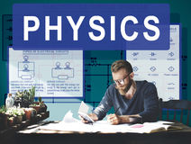 Concetto complesso di funzione di formula di esperimento di fisica fotografie stock libere da diritti