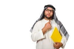 Concetto con l'uomo arabo isolato Immagini Stock