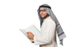 Concetto con l'uomo arabo isolato Immagine Stock Libera da Diritti