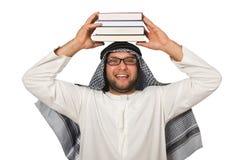 Concetto con l'uomo arabo isolato Fotografia Stock