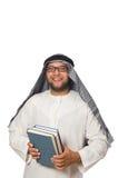 Concetto con l'uomo arabo isolato Immagini Stock Libere da Diritti