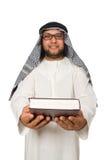 Concetto con l'uomo arabo isolato Fotografie Stock