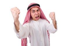 Concetto con l'uomo arabo isolato Immagine Stock