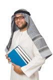 Concetto con l'uomo arabo isolato Fotografie Stock Libere da Diritti