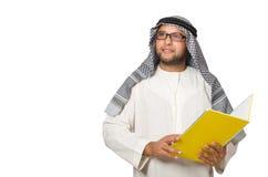 Concetto con l'uomo arabo isolato Fotografia Stock Libera da Diritti