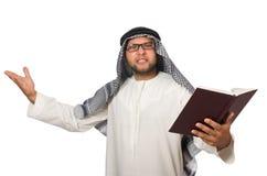 Concetto con l'uomo arabo isolato su bianco Immagine Stock Libera da Diritti