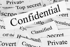 Concetto confidenziale Immagini Stock Libere da Diritti