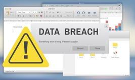 Concetto confidenziale di cibercrimine di sicurezza della frattura di dati illustrazione vettoriale