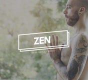 Concetto conscio del respiro dello stato di Zen Balance Health Live Life Fotografie Stock Libere da Diritti
