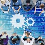 Concetto corporativo di lavoro di squadra di associazione di Alliance di sostegno Immagine Stock