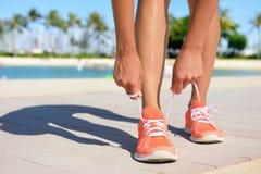 Concetto corrente di stile di vita di esercizio di forma fisica di sport Fotografie Stock Libere da Diritti