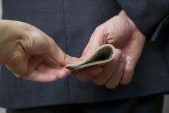 Concetto - corruzione Fotografie Stock Libere da Diritti