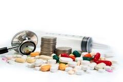 Concetto costo-defocused di sanità fotografie stock