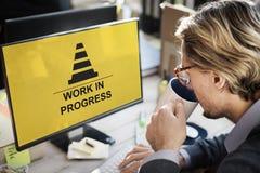Concetto in costruzione di progresso di problemi tecnici Immagine Stock