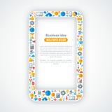 Concetto creativo dell'introduzione sul mercato online Immagini Stock Libere da Diritti