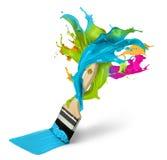 Concetto creativo della decorazione e della pittura Fotografie Stock