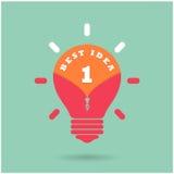 Concetto creativo di idea della lampadina con il migliore concetto di idea sopra Fotografia Stock Libera da Diritti