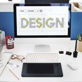 Concetto creativo di idee del progetto di progettazione Immagini Stock Libere da Diritti