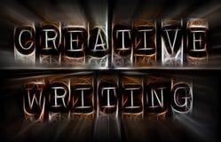 Concetto creativo di scrittura Fotografie Stock Libere da Diritti