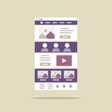 Concetto creativo di web design Fotografia Stock