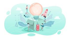 Concetto creativo Idea di pensiero creativo e di immaginazione illustrazione vettoriale
