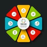 Concetto creativo per infographic Fotografia Stock Libera da Diritti