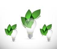 concetto crescente della lampadina di idee Immagini Stock