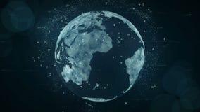 Concetto crescente delle connessioni dati e della rete globale illustrazione di stock