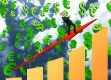 Concetto crescente di vendite Immagini Stock Libere da Diritti
