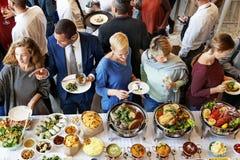 Concetto culinario di unità del pasto di cucina del caffè di approvvigionamento del buffet immagini stock libere da diritti
