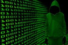 Concetto cyber del pirata informatico Immagini Stock Libere da Diritti