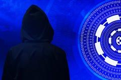 Concetto cyber del pirata informatico Immagine Stock