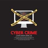 Concetto cyber di crimine. Fotografie Stock Libere da Diritti