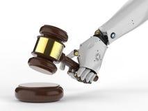 Concetto cyber di legge Immagini Stock
