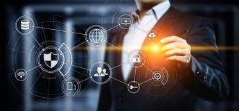 Concetto cyber di tecnologia di Internet di affari di segretezza di sicurezza di protezione dei dati immagini stock libere da diritti
