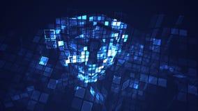 Concetto cyber digitale di sicurezza di protezione dello schermo dell'estratto illustrazione di stock