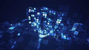 Concetto cyber digitale di sicurezza di protezione dello schermo dell'estratto royalty illustrazione gratis