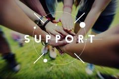 Concetto d'aiuto di servizio di assistenza di sostegno Immagini Stock