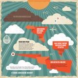 Concetto d'annata del fondo delle nuvole Fotografia Stock