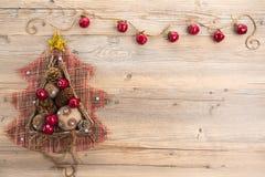 Concetto d'annata di Natale con spazio per testo Immagine Stock Libera da Diritti