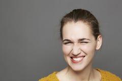 Concetto d'ardore di felicità per sbattere le palpebre bella ragazza Fotografia Stock Libera da Diritti