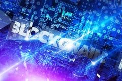 Concetto 3D della piattaforma di Blockchain Fotografia Stock Libera da Diritti