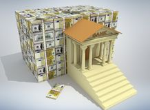 Concetto 3D di attività bancarie royalty illustrazione gratis