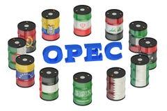 Concetto 3D di riunioni dell'OPEC Fotografia Stock Libera da Diritti