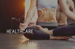 Concetto d'inseguimento di tecnologia di sanità di forma fisica di salute fotografia stock
