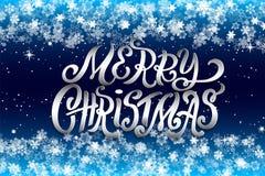 Concetto d'iscrizione disegnato a mano di Natale per la progettazione della cartolina d'auguri di festa, manifesto, insegna, logo immagini stock libere da diritti