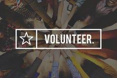 Concetto d'offerta volontario volontario dell'assistente dell'aiuto immagine stock