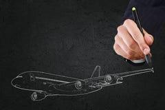Concetto degli aerei Fotografie Stock