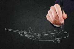 Concetto degli aerei Immagini Stock Libere da Diritti