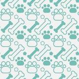 Concetto degli animali domestici di Paw Seamless Pattern Abstract Ornament del cane e delle ossa Fotografia Stock Libera da Diritti
